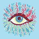 Weird Blue Psychedelic Eye by Boriana Giormova