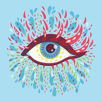Weird Blue Psychedelic Eye by azzza