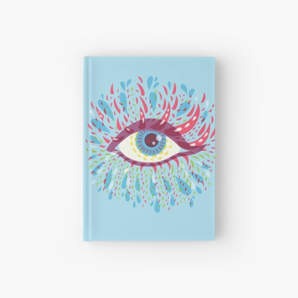 Weird Blue Psychedelic Eye Hardcover Journal
