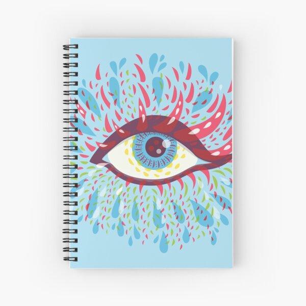 Weird Blue Psychedelic Eye Spiral Notebook