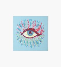 Weird Blue Psychedelic Eye Art Board