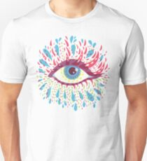 Weird Blue Psychedelic Eye Unisex T-Shirt