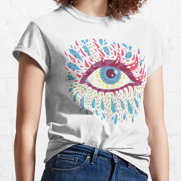 Weird Blue Psychedelic Eye Classic T-Shirt