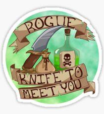 Knife To Meet You Sticker