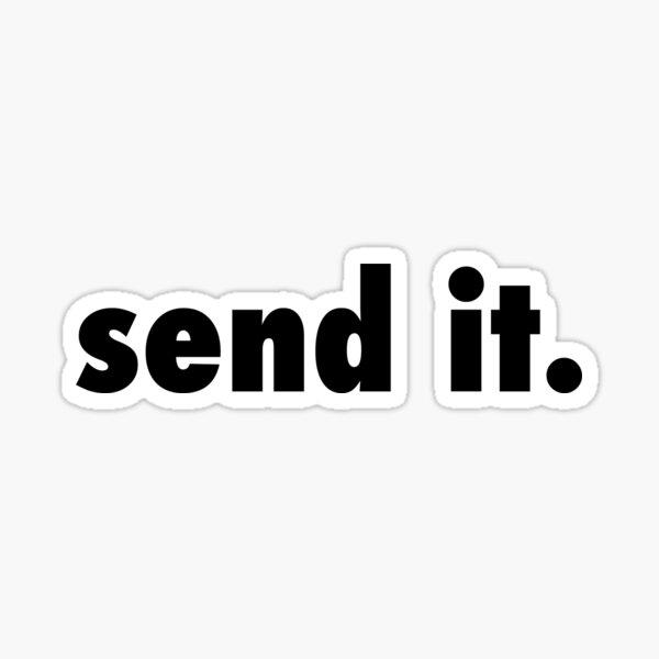 send it plain black . Sticker