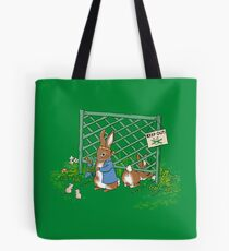 Peter's Backyard Bargains - Gardening with Rabbits! Tote Bag