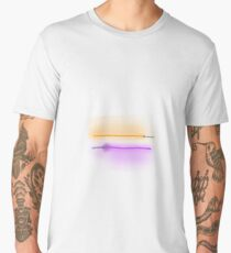 Purple and Orange Lightsabers with Grey and White Hilts Men's Premium T-Shirt