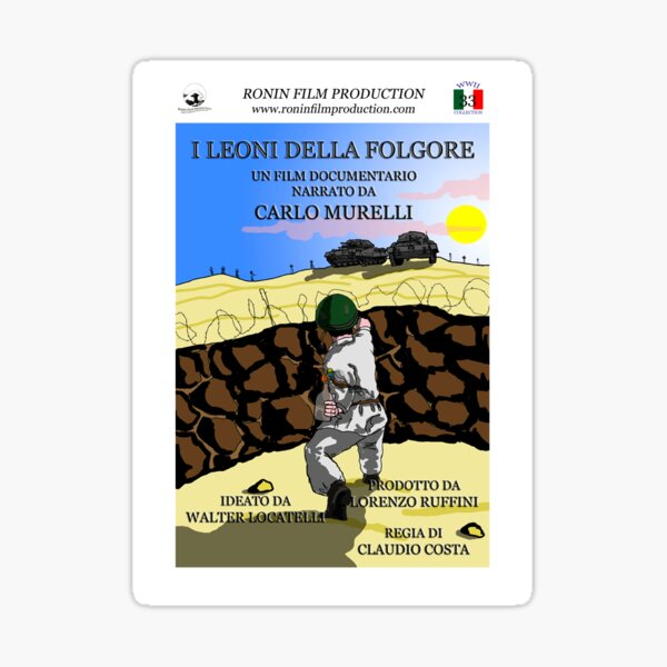 I leoni della Folgore - Official poster Sticker