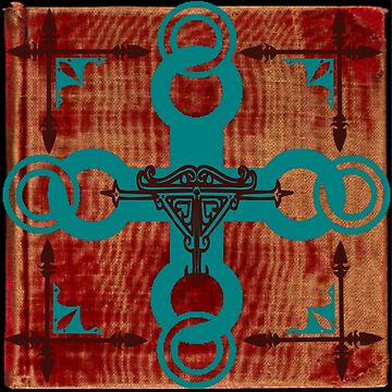 Rustic Turquoise Cross by Jessielee72