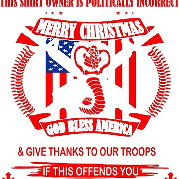 This Shirt Politically Incorrect God Bless America Salute Flag by 06051984
