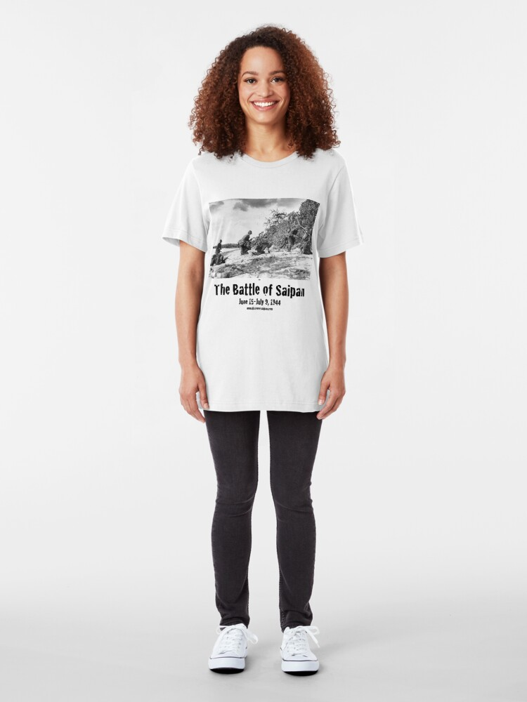 Alternate view of Battle of Saipan 75th Anniversary (1944 to 2019) Slim Fit T-Shirt
