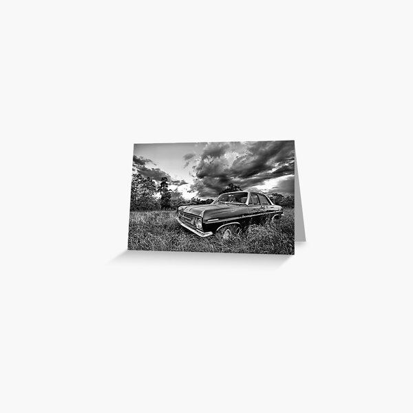 HR in mono.... Greeting Card