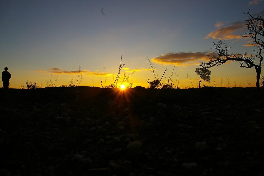 Rocky Sunset by fcory