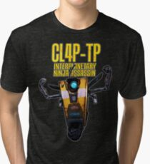 CL4P-TP INTERPLANETARY NINJA ASSASSIN (Clap-Trap) Tri-blend T-Shirt