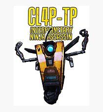 CL4P-TP INTERPLANETARY NINJA ASSASSIN (Clap-Trap) Photographic Print