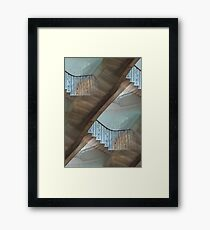Confusing spiral staircase Framed Print