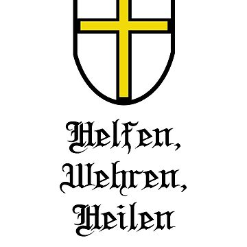 Teutonic Order Shield with Slogan by EvaEV