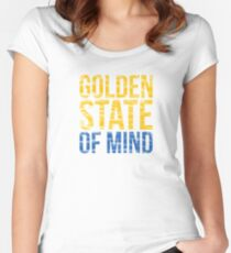 Golden State of Mind  Women's Fitted Scoop T-Shirt