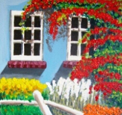 White windows in the Garden by Louise Henning