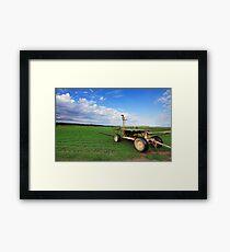 Turf Farm Freemans Reach Australia landscape Framed Print