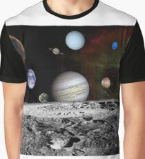 Space Design - Solar System Graphic T-Shirt
