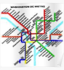 Washington DC Metro Map Poster