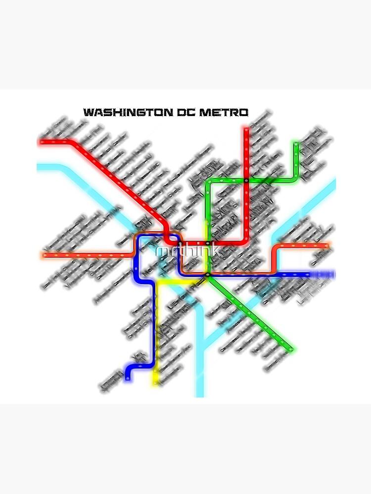 Washington DC Metro Map by mrthink