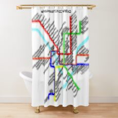 Washington DC Metro Map Shower Curtain