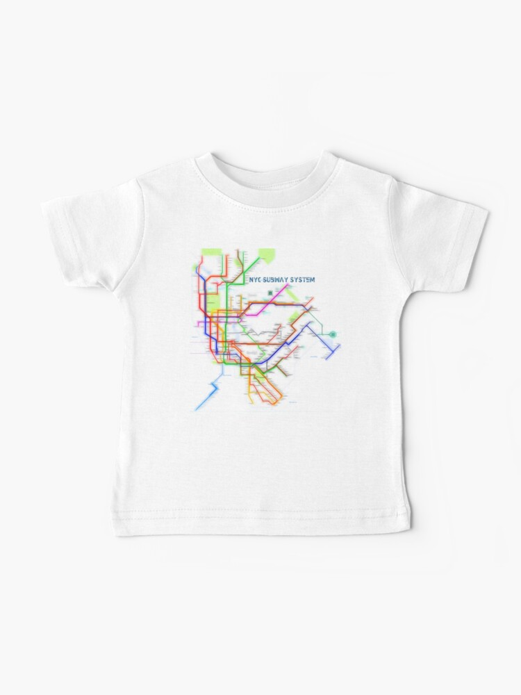 Nyc Subway Map T Shirt.Nyc Subway Map Baby T Shirt