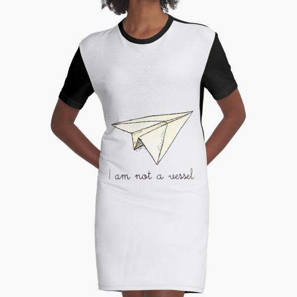 I am not a vessel:  paper plane Graphic T-Shirt Dress