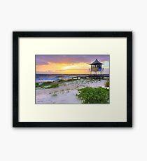 Beautiful sunrise at The Entrance, Central Coast, Australia seascape landscape Framed Print