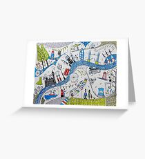 Busy London life Greeting Card