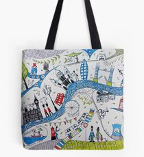 Busy London life Tote Bag