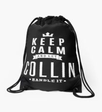 Let Collin Handle It! Drawstring Bag
