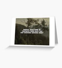 Bierstadt's Douglas Firs Greeting Card