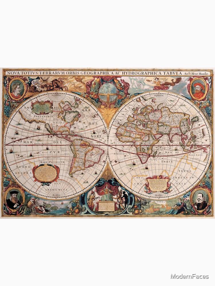 Double hemisphere map henricus hondius c 1630 mens premium t double hemisphere map henricus hondius c 1630 by modernfaces gumiabroncs Images