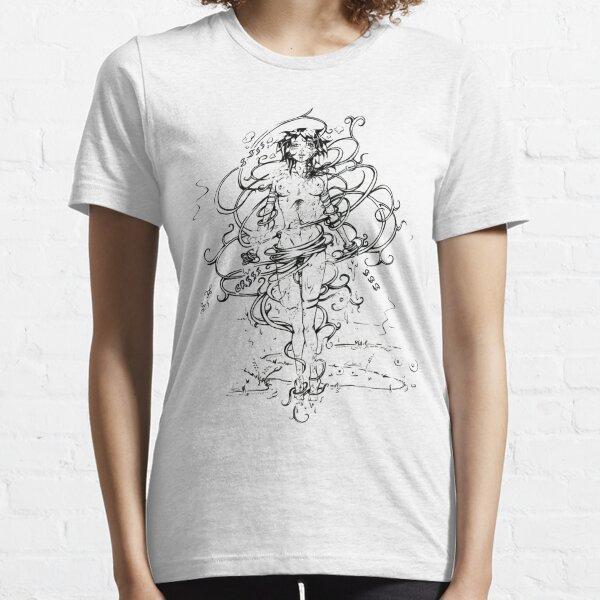Transformation jeune fille fleur T-shirt essentiel