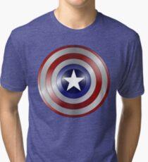 metallic america shield Tri-blend T-Shirt