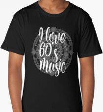 I Love 60's Music - Cool Sixtiess Lover Vintage Style Typography Design Long T-Shirt