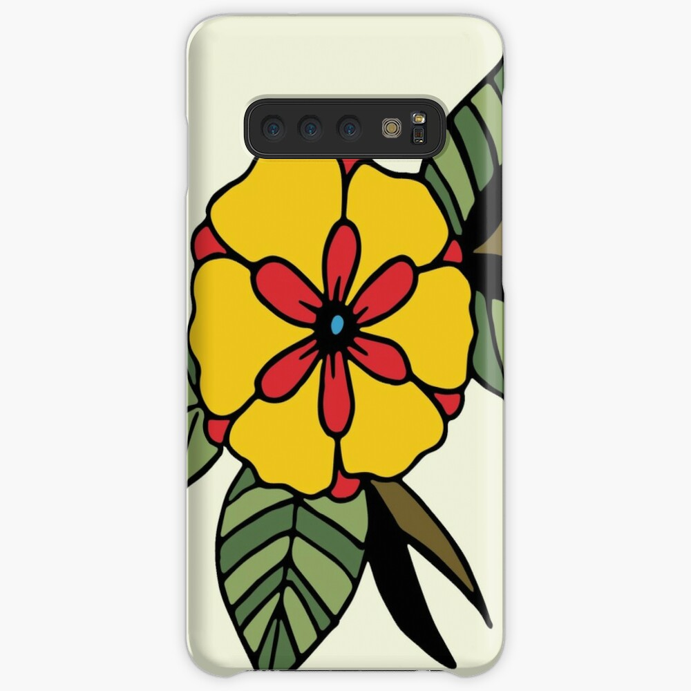 Traditional Flower Case & Skin for Samsung Galaxy