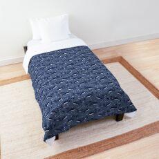 Starry Whale Sharks (Dark version) Comforter
