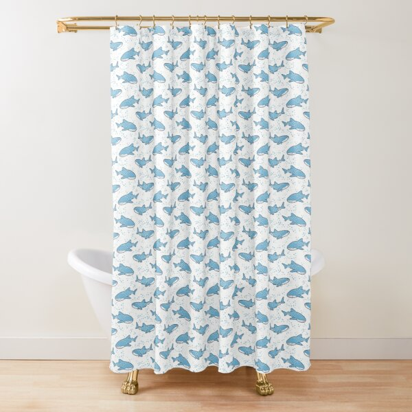 Starry Whale Sharks (Light version) Shower Curtain