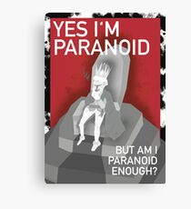 The Paranoid King Canvas Print