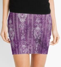 Boho - Bohemian - Purples - Vintage - Distressed - Hippie - Boho Modern  Mini Skirt