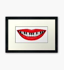Keyboardist's smile Framed Print