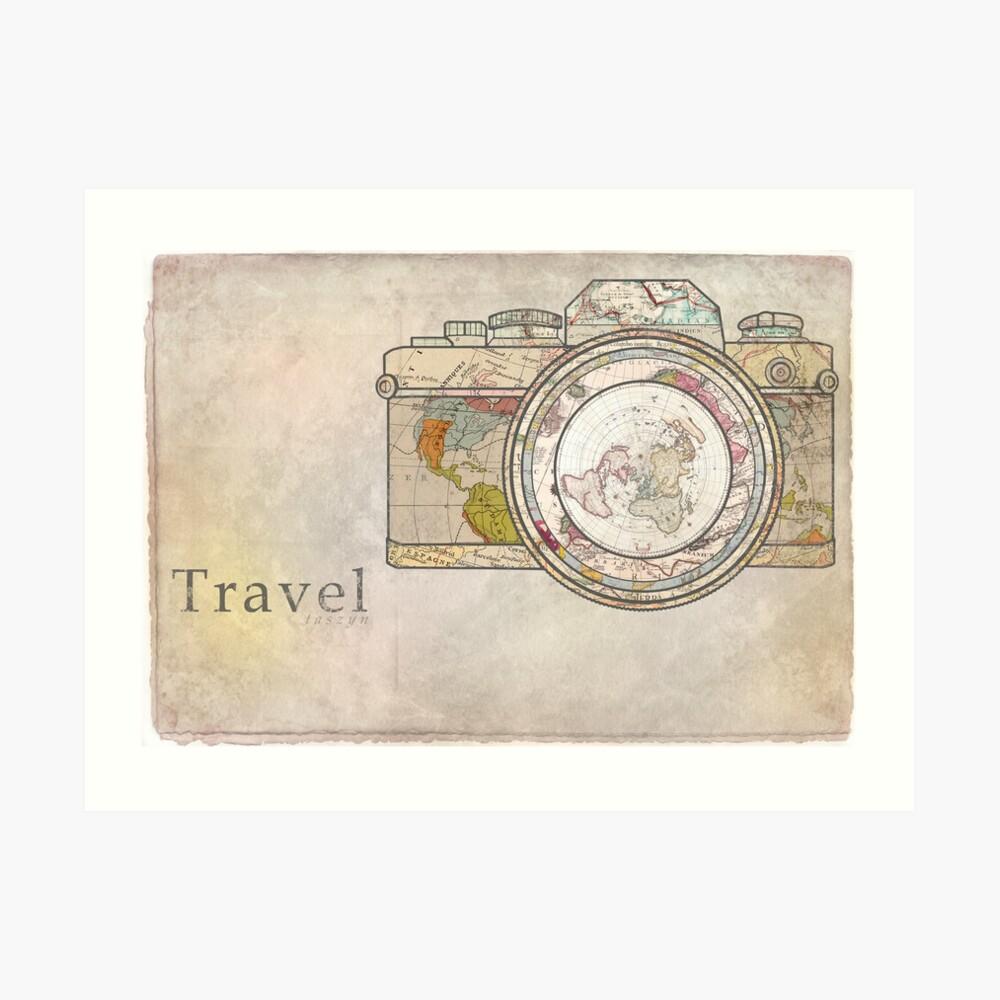 Viajar Lámina artística
