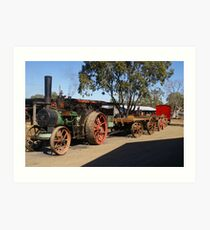 IT ALL STARTED IN THE STEAM AGE Art Print