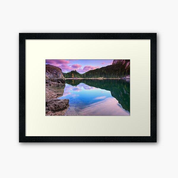 Lake's reflections Framed Art Print
