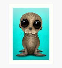 Cute Baby Sea Lion Art Print