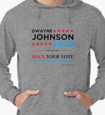 Vote The Rock 2020 President Dwayne Johnson Election (black) Lightweight Hoodie